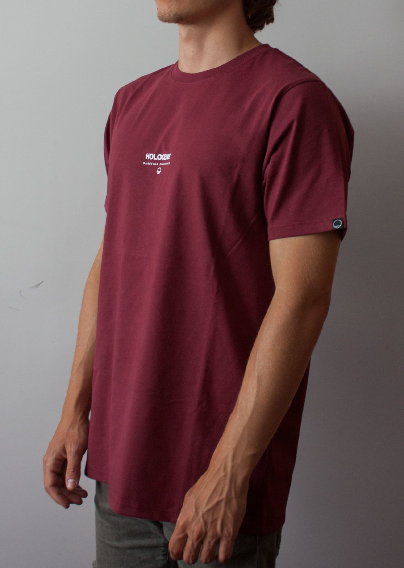 Question Everything Burgundy Tee